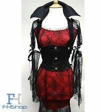 Vampire Women Costume Sexy Lady Fancy Dress Halloween Cosplay Party + Lace Mask
