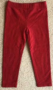 BABY GAP size 3T Girls Red Cotton Blens Leggings Pants