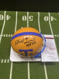 DARRELL GREEN SIGNED TEXAS A&I MINI HELMET HOF 2008 WASHINGTON REDSKINS JSA 065