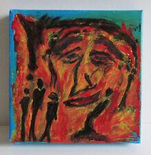 Original Malerei GRUPPENBILD 25x25 Acryl Leinwand auf Keilrahmen signiert