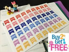PP055 -- Homework Test Reminders Life Planner Stickers for Erin Condren (54pcs)