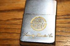Vintage ZIPPO Lighter SECURITY ELEVATOR CO. Security Service Satisfies 1950-1957