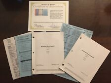 Liza Minnelli Signed 2004 Arrested Development Script With Other Scripts.