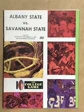 Albany State Savannah COLLEGE FOOTBALL PROGRAM - 1972 - EX