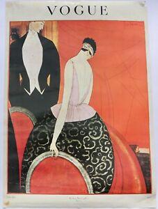 Vintage Georges Lepape 1920s Vogue fashion poster