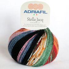 "Adriafil Stella Jacq ""Camus Fancy 081"" Aran Yarn 50g Superwash Merino Wool"