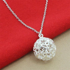 Hot Classic big Ball  pendant Chain  925Silver Necklace Gift Jewelry Free P&P