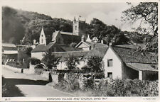 KEWSTOKE VILLAGE & CHURCH, SAND BAY * RAPHAEL TUCK * 1952 VINTAGE VIEW* (A41)