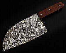 "HUNTERS SERBIAN DAMASCUS STEEL 12"" MICARTA HANDLE CHOPPER/CLEAVER CHEF KNIVES"