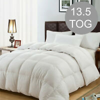 Duck Feather & Down Duvet / Quilt Bedding - KING Size 13.5 TOG Thick Quality