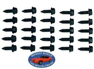 NOSR 55-90 GM GTO Radiator Shroud Body Fender Wheel Well Brackets 1/4-14 Bolt OX