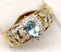 bague or topazes  et diamants