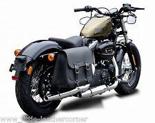 """Cuir sacoche de selle """"Boston"""" 20 LTR. droit Harley Davidson, sportster, déballer cendres"""