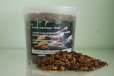 Koi Fish Food Silkworm & Pellets 2.5ltr Tub approx 850g Suitable For Pond fish