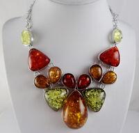 Precious Modernist amber Handmade  Gemstone Jewellery Necklace