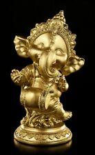 Ganesha Figura con tambor - COLOR DORADO - INDIO divinidad felicidad