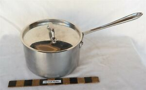 "All-Clad 8"" Dia. 3 quart Saucepan W/ Lid Very Nice"
