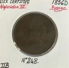 10 CENTIMES NAPOLEON III - 1856 D - Pièce de Monnaie en Bronze // TTB