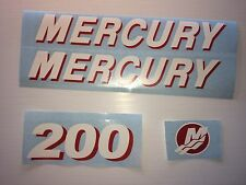 mercury outboard decal kit 200 hp decal stickers  Marine Vinyl   Pick your HP