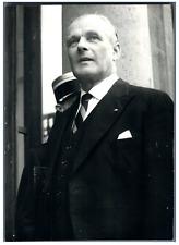 Sigismund von Braun, Ambassadeur d'Allemagne à Paris  Vintage silver print.