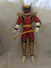 "Red Power Ranger 12"" Talking Figure Mystic Force Magiranger Bandai 2005 WORKS"