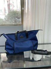Tumi Alpha 3 Double Expansion Travel Satchel Carry on Duffel Bag Blue Moon