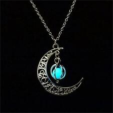 Sailor Moon Crescent Pendant Necklace that GLOWS in DARK Women Jewelry US Seller