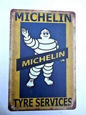 MICHELIN DESIGN 3  METAL TIN PLATE SIGNS vintage cafe pub bar garage retro funny