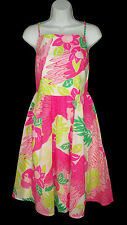 Lilly Pulitzer Ports Of Caw Dress 6 Birds parrots Print Full Skirt Cotton