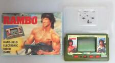 """"""" RAMBO """" Sylvester Stallone LCD HAND-HELD ELECTRONIC VIDEO GAME BOXED"""