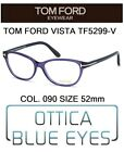 Occhiali da Vista TOM FORD TF5299V 090 52mm eyeglasses brillen FT CAT EYE ITALY