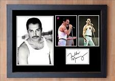 STUNNING QUALITY FREDDY MERCURY SIGNED / AUTOGRAPHED AND FRAMED PRINT