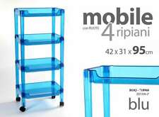 CARRELLO H95 CM BLU RUOTE PLASTIC ESTETISTA PARRUCCHIERE BARBIERE BAGNO 718960