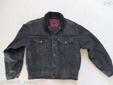 Levi's® Jacke Jeansjacke mit Schwarzem ! Teddy Fell, Gr. M, Denim Made in USA !