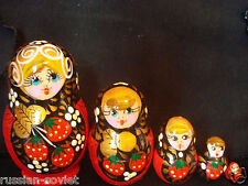 CHRISTMAS RUSSIAN DOLL - BRIGHT COLORS - XMAS PRESENT - TABLE DISPLAY -