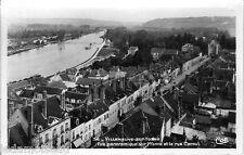 Ancienne carte postale, VILLENEUVE-sur-YONNE, vue panoramique, écrite au revers.