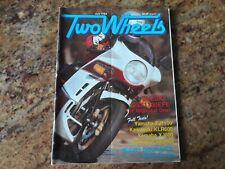 Two Wheels magazine July 1984 Suzuki GSX1100EFE Yamaha FJ1100 Kawasaki KLR600