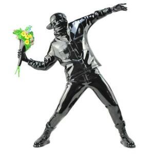Resin Figurine Banksy Flower Bomber Modern Art Sculpture Collectible Statue