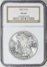 "1882-S MORGAN SILVER DOLLAR NGC MS-66  ""GORGEOUS"""