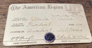 Vintage 1972 The American Legion Life Membership Card 10K Gold! Rare! 23.8 Grams