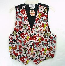 Vintage 90s Looney Tunes Silky Valentines Hearts Vest Top One Size S/M/L NOS NEW