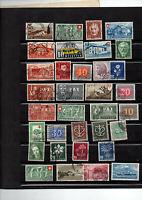 34 timbres de Suisse du no 403 à 454