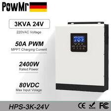 3000W Solar-Hybrid-Wechselrichter Eingebauter 50A PWM-Laderegler DC24V zu AC220V