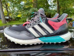 Men's sz 12 Adidas UltraBoost All Terrain Black & Teal Running Trail Shoes