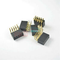 10PCS 2.54mm Pitch 2x5Pin Header Right Angle Female Connector Double Row Socket