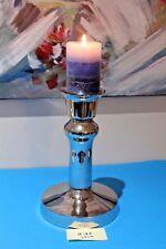 Handmade Pillar Candleholder Unique Style Silver Nickel/Aluminium H:28cm Modern