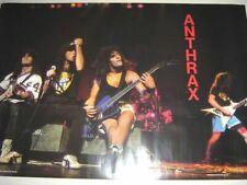 "Anthrax Poster 1987 Vintage 23 1/2"" x 35 Scott Ian Frank Bello"