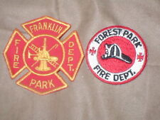 lot of 2 Vintage FIRE DEPT. Patches