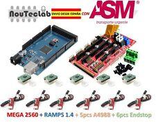 RAMPS 1.4 Control Panel + Mega 2560 R3 + 5pcs A4988 Stepper + 6pcs Endstop