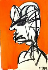 EXPRESSIONISM ABSTRACT PAINTING PORTRAIT COLORFUL MIND READER MODERN FINE ART